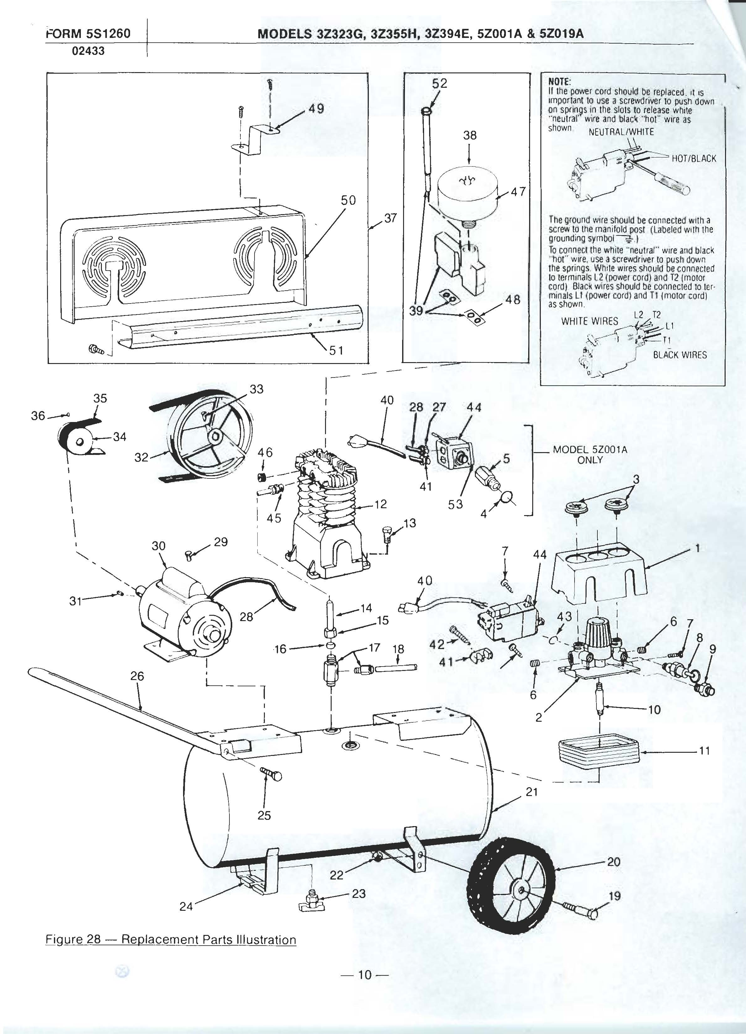 diagram of an air compressor