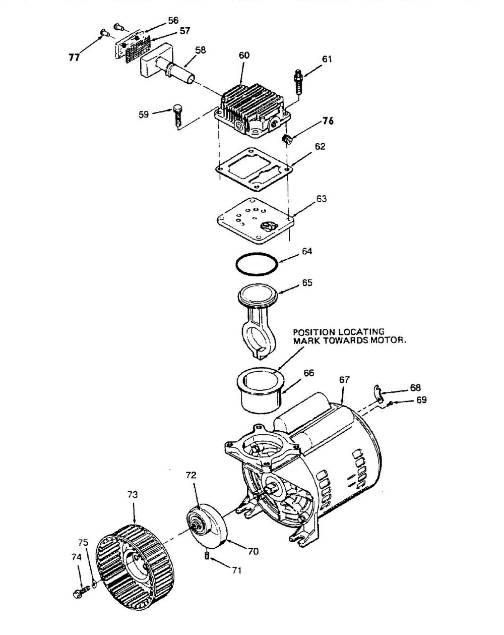 Oil-Free Direct-Drive Pump Parts