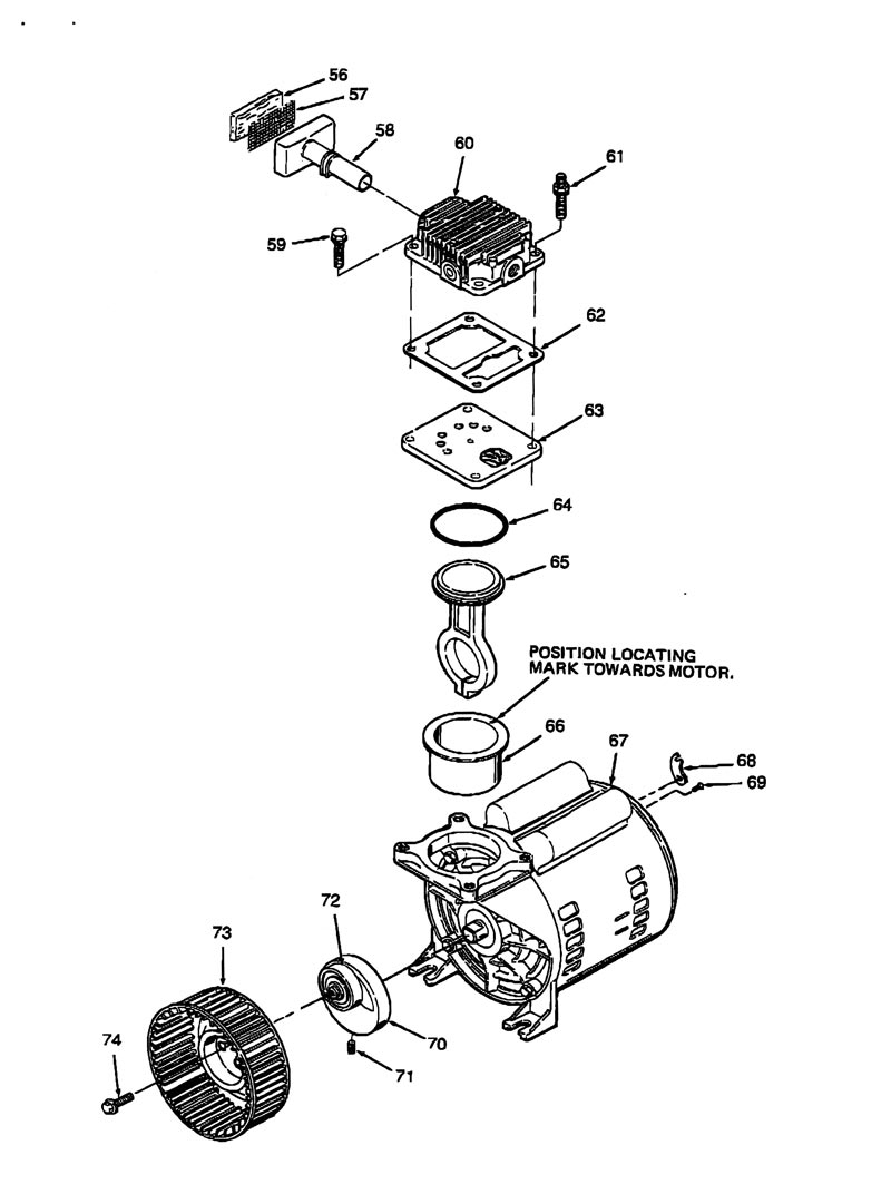 Oilless Air Compressor Wiring Diagram Box For Craftsman Oil Free Pump Parts 919 153230 Goodman