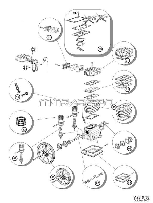 B2800, B3800, NS18S, 4116091337 - ABAC, IMC Parts schematic