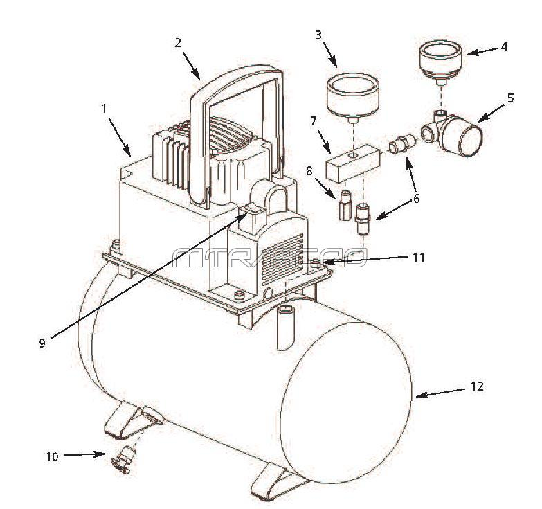 Medical  pressed Air Piping Diagrams likewise Ptc Relay Wiring Diagram moreover Fp200300av Switch Wiring Diagram additionally Air Wrench Diagram moreover AC  pressor Repairs. on air compressors wiring schematic for 2