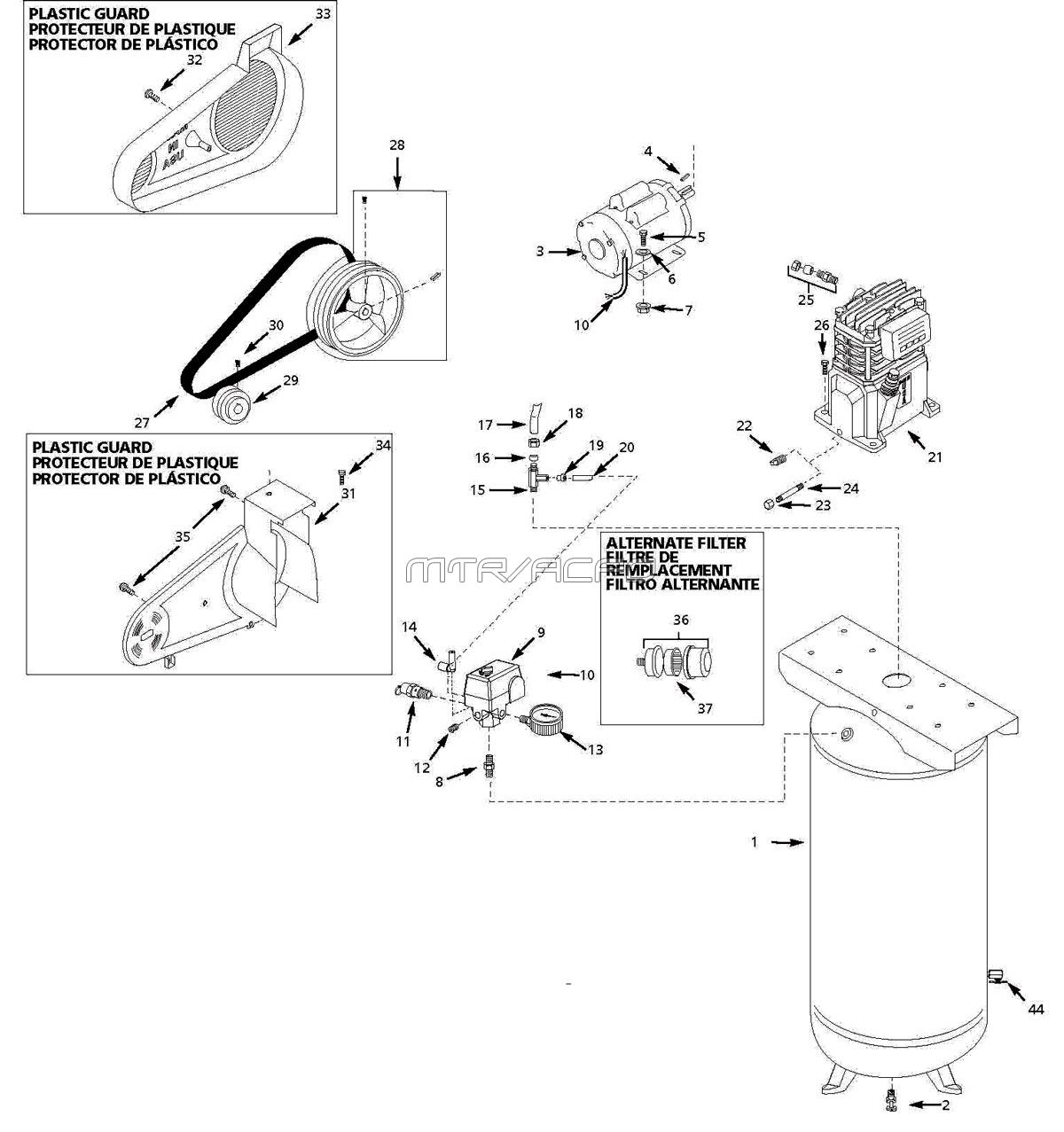 HUSKY_VT631403AJ_parts husky vt631403aj air compressor parts husky air compressor wiring diagram at edmiracle.co