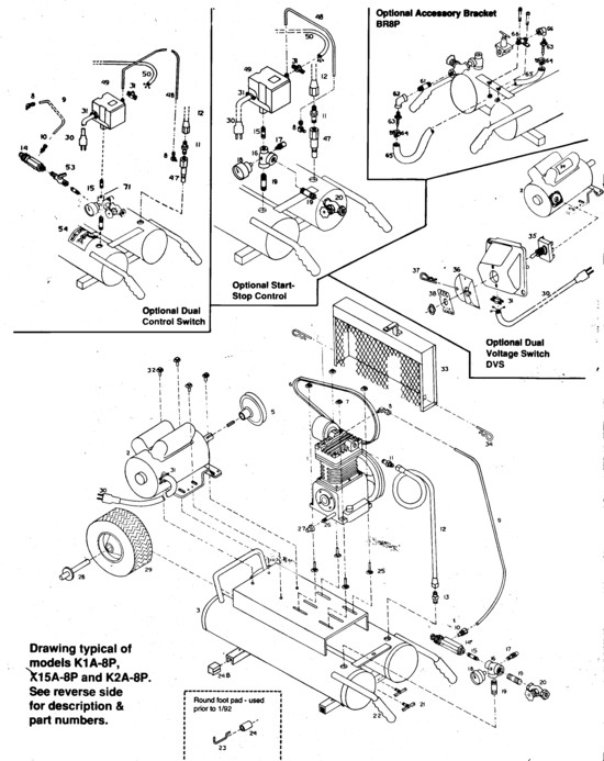 K15A 8P emglo parts k1a 8p, k15a 8p, k2a 8p air compressor abac air compressor wiring diagram at fashall.co