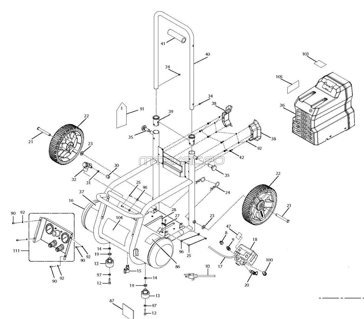 Quincy Compressor Wiring Diagram : Ridgid parts of cw air compressor