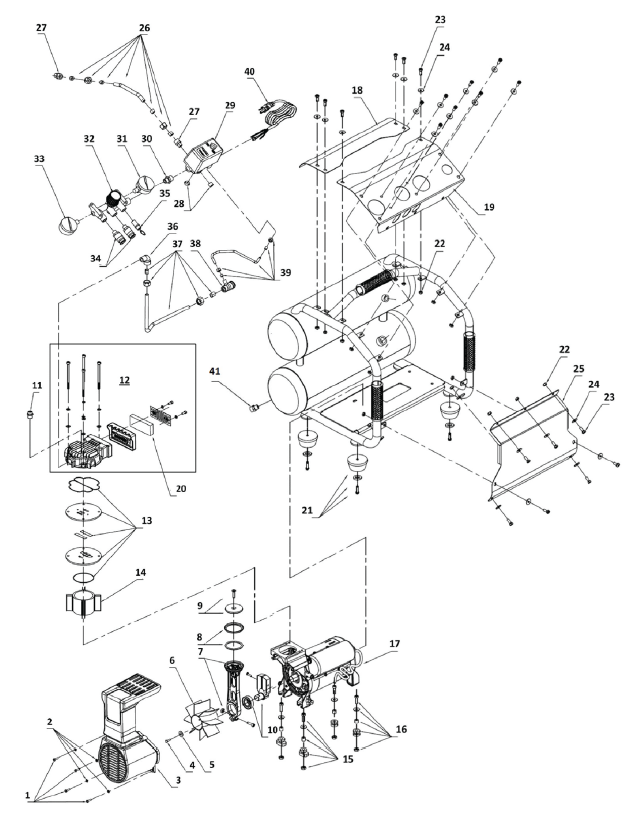 Air Compressor Starter Wiring Diagram