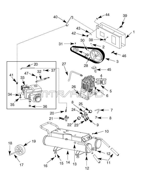 GP90135, GP90135A, GP90150A - RIDGID Parts schematic