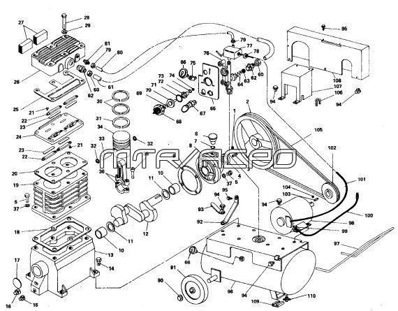 Sanborn_84A150_104A200_compressor_parts 84a150 22, 84a100 22 sanborn air compressor parts sanborn air compressor wiring diagram at gsmx.co