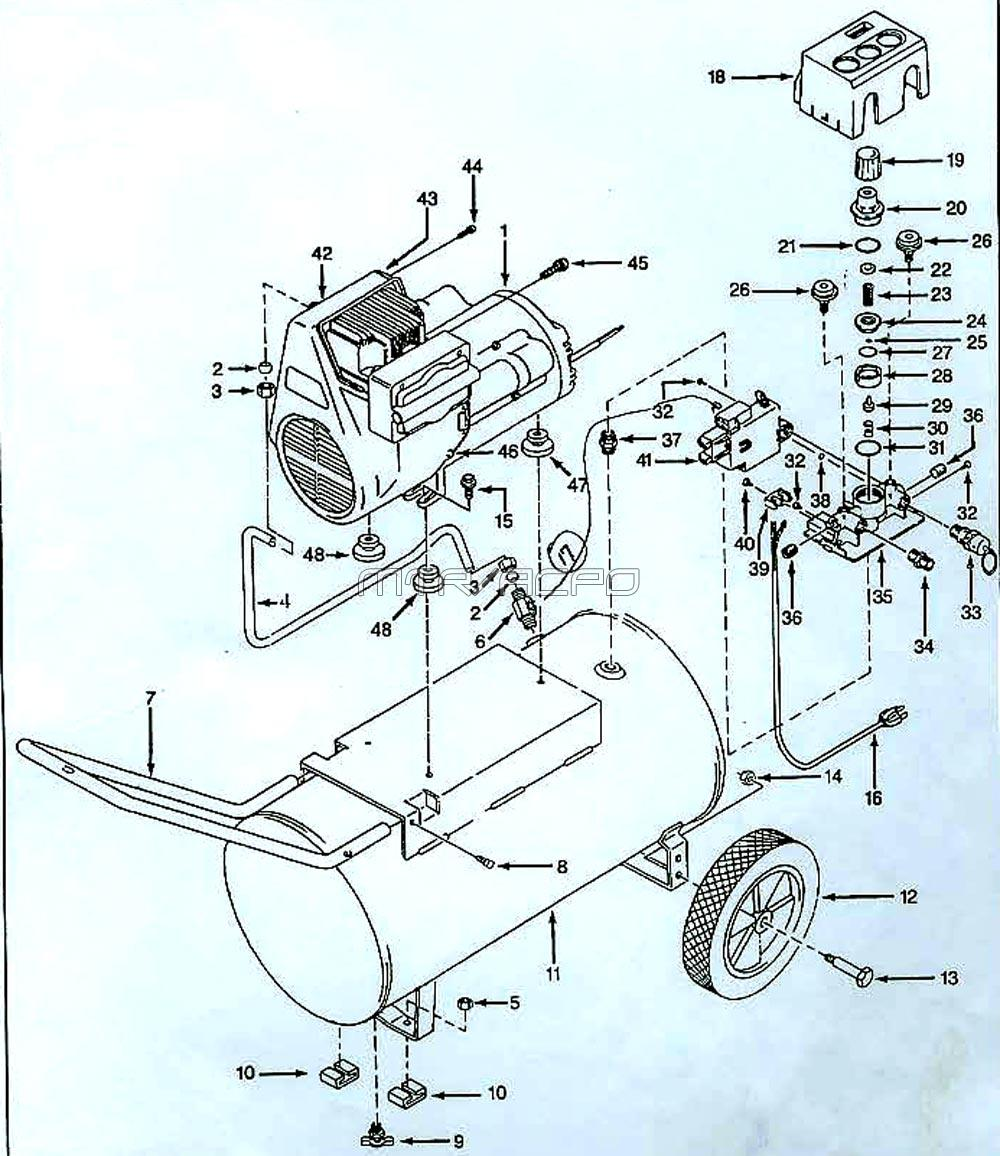 wiring diagram for slide switch campbell hausfeld air compressor parts  campbell hausfeld air compressor parts