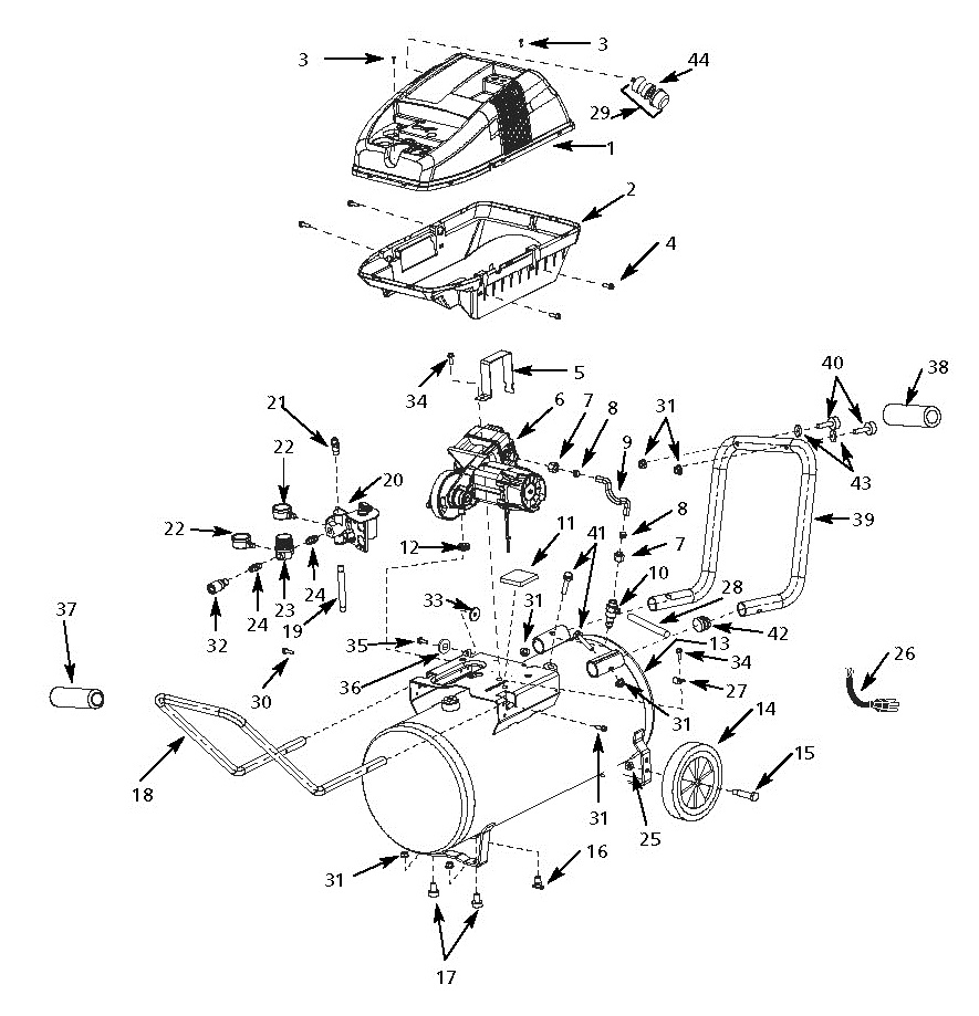 WL651100 - Air Compressor Parts schematic