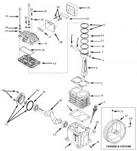 VT470401 - Air Compressor Pump Parts