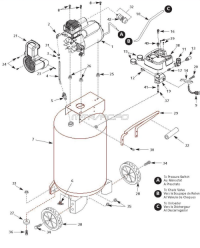 WL611701, WL611701AJ - Portable Oil-Free Air Compressor Parts