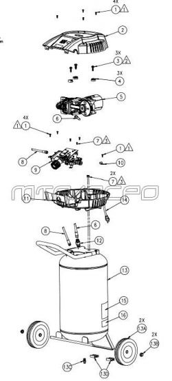 VLK1581009, 103797 - Air Compressor Parts schematic