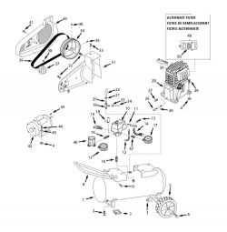 EX830001, EX830001AJ - Air Compressor Parts schematic