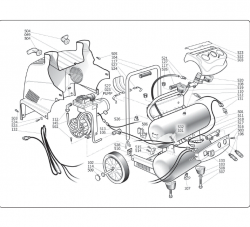 H1503TP-R - Air Compressor Parts schematic