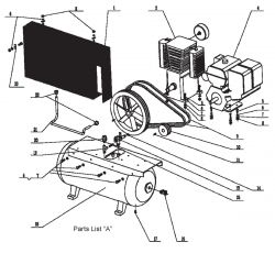 99918, 65204 - Air Compressor Parts schematic