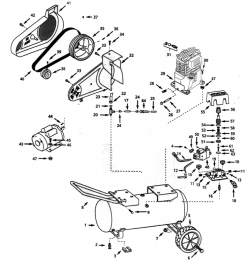 VT622501 - Portable Oil-Bath Electric Air Compressor Parts schematic