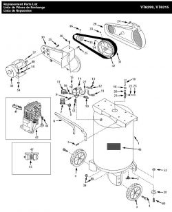 VT6315, VT631502AJ - Air Compressor Parts schematic