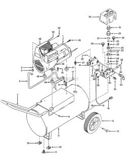 WL600601, WL600701, WL600801, WL601101 - Air Compressor Parts schematic