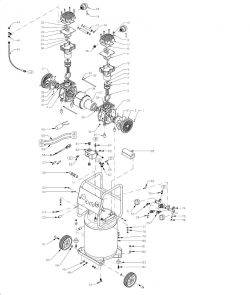 10020C 220/60 - 220V Ultra Quiet, Oil-Free Air Compressor Repair Parts schematic
